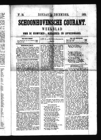 Schoonhovensche Courant 1869-12-26