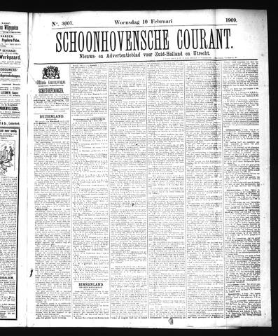 Schoonhovensche Courant 1909-02-10
