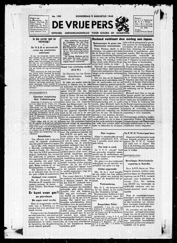 De Vrije Pers 1945-08-09