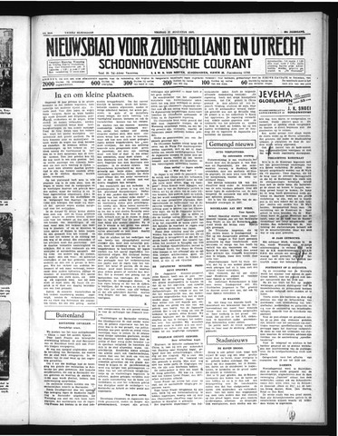 Schoonhovensche Courant 1937-08-27