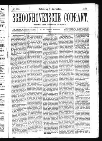 Schoonhovensche Courant 1886-08-07