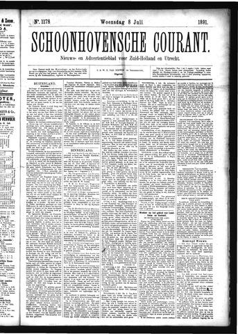 Schoonhovensche Courant 1891-07-08