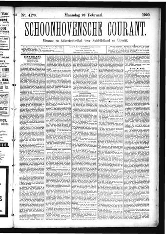 Schoonhovensche Courant 1920-02-23