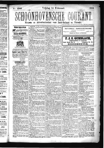 Schoonhovensche Courant 1919-02-14