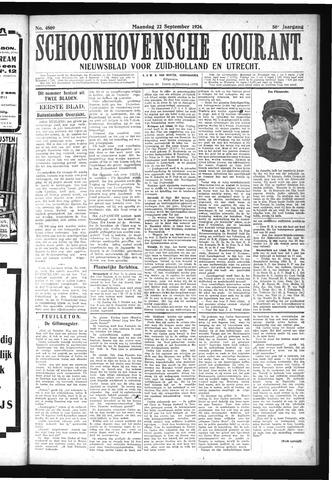 Schoonhovensche Courant 1924-09-22