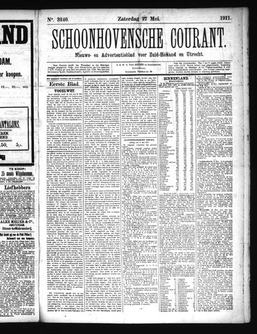 Schoonhovensche Courant 1911-05-27
