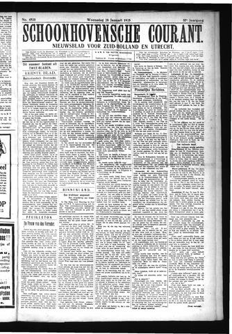 Schoonhovensche Courant 1925-01-28