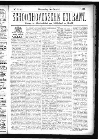 Schoonhovensche Courant 1895-01-30