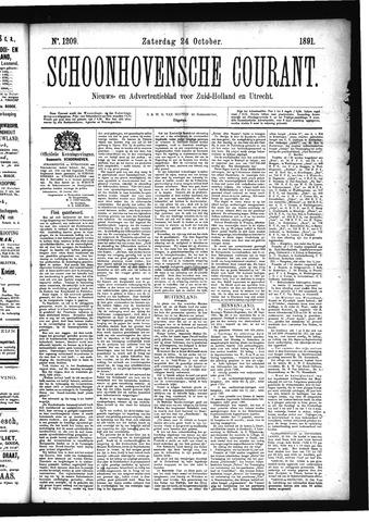 Schoonhovensche Courant 1891-10-24