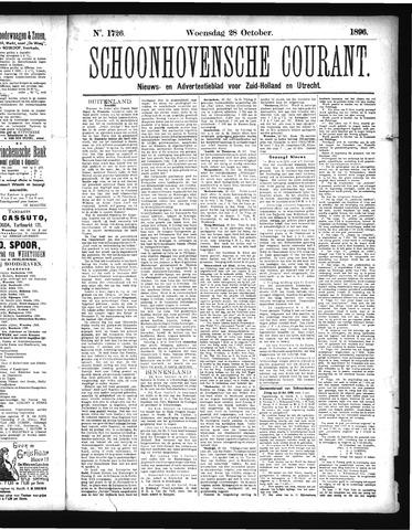 Schoonhovensche Courant 1896-10-28