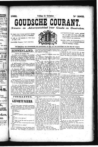 Goudsche Courant 1892-11-25
