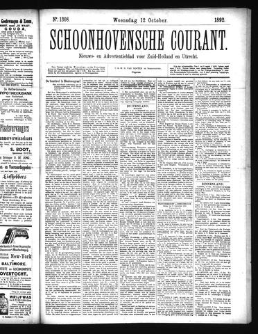 Schoonhovensche Courant 1892-10-12