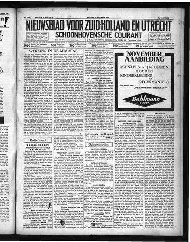 Schoonhovensche Courant 1936-11-06