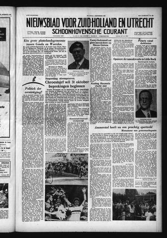 Schoonhovensche Courant 1958-09-01