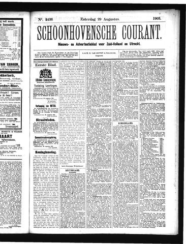 Schoonhovensche Courant 1903-08-29
