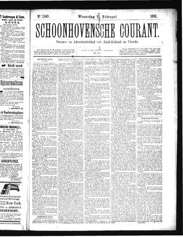 Schoonhovensche Courant 1891-02-25
