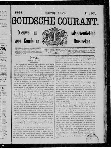 Goudsche Courant 1863-04-09