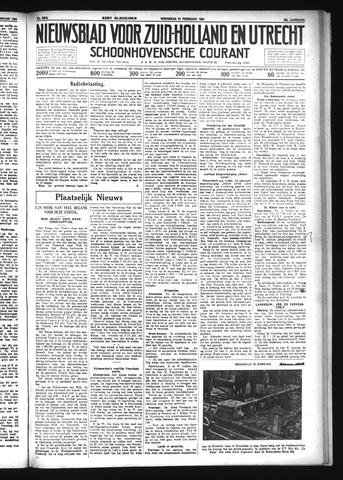 Schoonhovensche Courant 1934-02-21