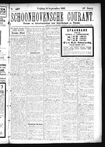 Schoonhovensche Courant 1921-09-16