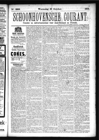 Schoonhovensche Courant 1912-10-30