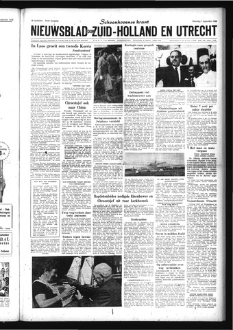 Schoonhovensche Courant 1959-09-07