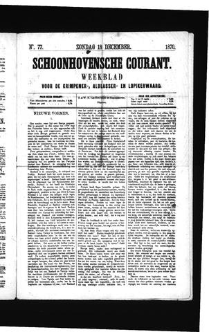 Schoonhovensche Courant 1870-12-18