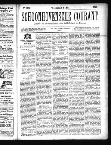 Schoonhovensche Courant 1892-05-04