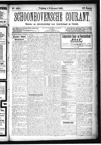 Schoonhovensche Courant 1921-02-04