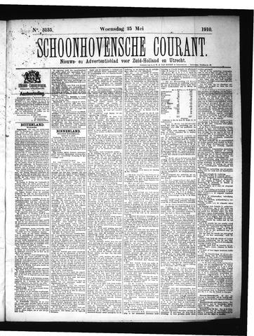 Schoonhovensche Courant 1910-05-25
