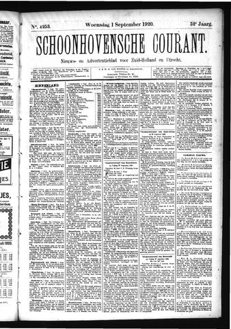 Schoonhovensche Courant 1920-09-01