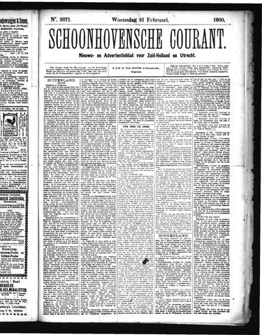 Schoonhovensche Courant 1900-02-21