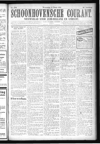 Schoonhovensche Courant 1924-03-12