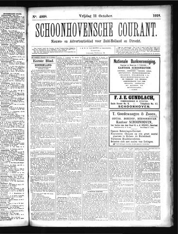 Schoonhovensche Courant 1918-10-11