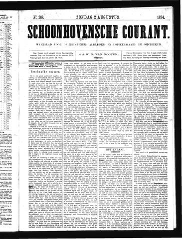 Schoonhovensche Courant 1874-08-02