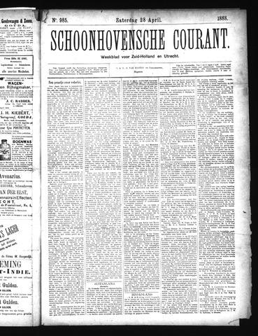 Schoonhovensche Courant 1888-04-28