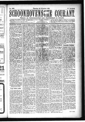 Schoonhovensche Courant 1922-11-20