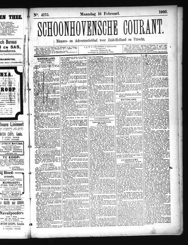 Schoonhovensche Courant 1920-02-16