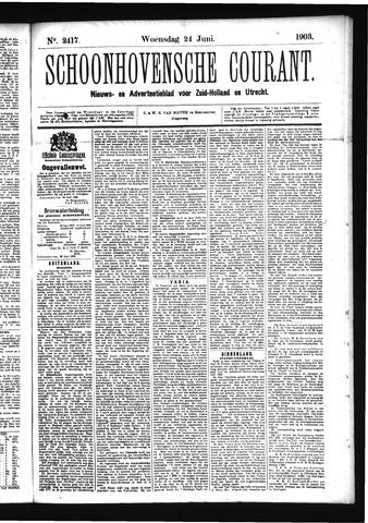 Schoonhovensche Courant 1903-06-24
