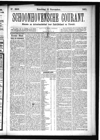 Schoonhovensche Courant 1911-11-11