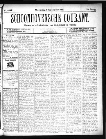Schoonhovensche Courant 1921-09-07