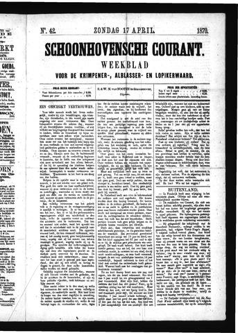 Schoonhovensche Courant 1870-04-17