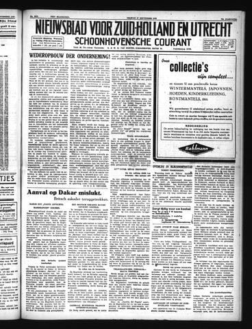 Schoonhovensche Courant 1940-09-27