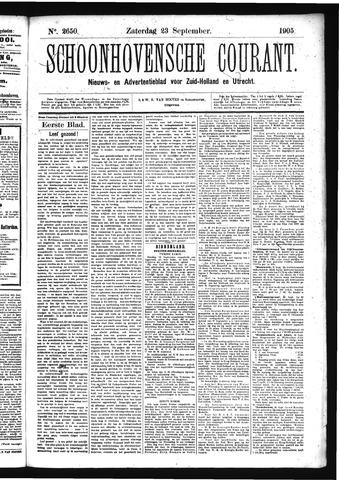 Schoonhovensche Courant 1905-09-23
