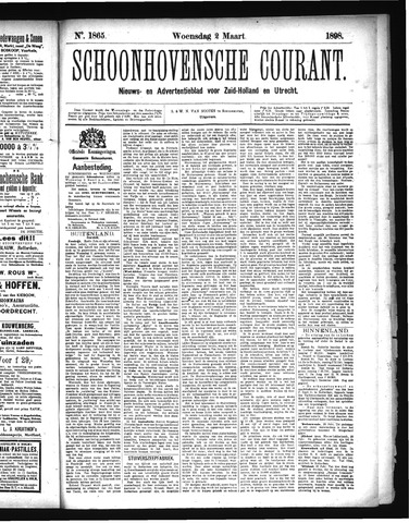 Schoonhovensche Courant 1898-03-02