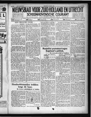 Schoonhovensche Courant 1936-01-27