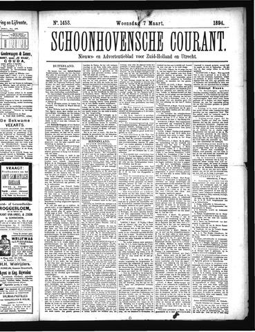Schoonhovensche Courant 1894-03-07
