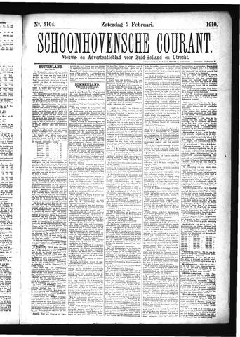 Schoonhovensche Courant 1910-02-05