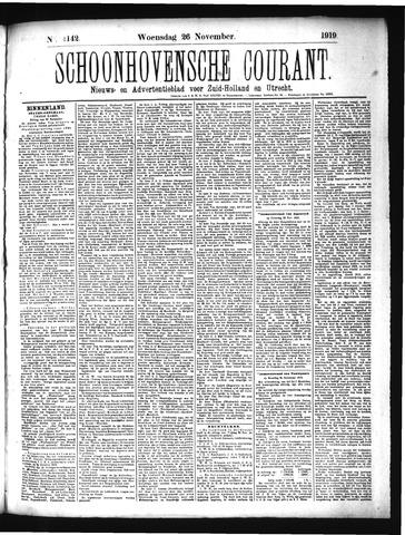 Schoonhovensche Courant 1919-11-26