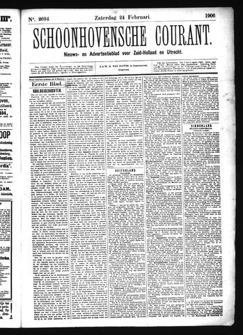 Schoonhovensche Courant 1906-02-24