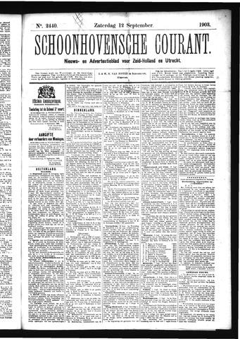 Schoonhovensche Courant 1903-09-12